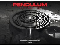 Two tickets for Pendulum at the Printworks London tonight 14th April