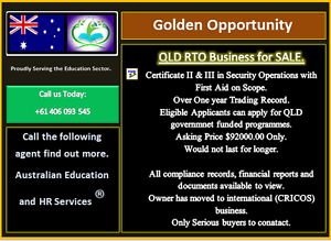 SECURITY RTO for SALE (CERTIFICATE III & II with Apply First Aid) Brisbane City Brisbane North West Preview
