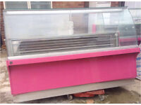 Commercial display chiller for ice cream n food, ideal for restaurants