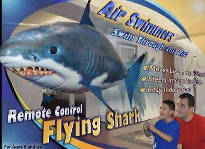 - Air Swimmers Remote Control Flying Shark Week Toy Balloon Gift NIB FREE SHIP