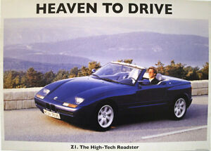 bmw z1 roadster classic car picture poster print a1 ebay. Black Bedroom Furniture Sets. Home Design Ideas