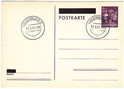 Luxemburg Ganzsache P 6 blanko gestempelt