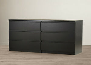 Looking to buy Ikea Malm 6 drawer dresser in black and brown London Ontario image 2