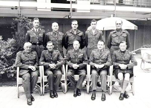 WW 2-FIRST CANADIAN ARMY GENERALS-Hilversum Netherlands in 1945-PHOTO