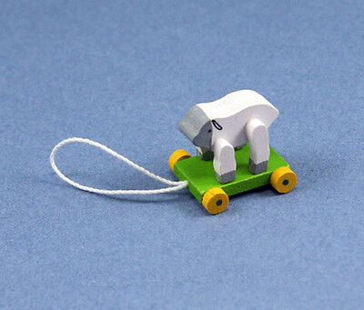 1:12 Scale Dollhouse Miniature Adorable Lamb Pull Toy #WCTA004-C