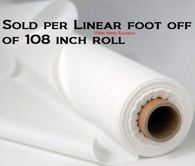 "108"" Projector Curtain Screen Portable Soft White Non-Woven Fabric SOLD per FOOT"