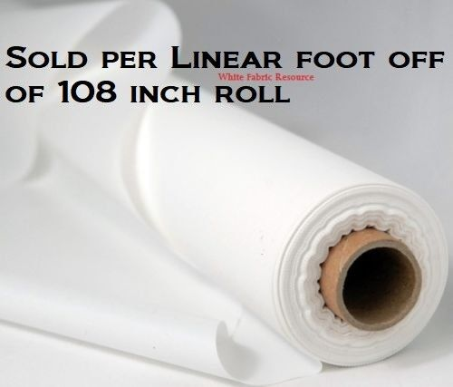 "108"" Projector Curtain Screen Portable Soft White Non-Woven Fabric SOLD per FOOT"