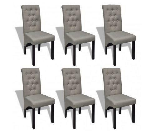 6 Fabric Dining Chairs Ebay