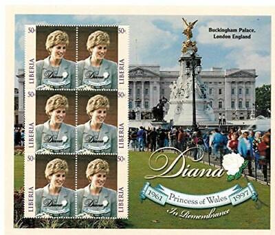 VINTAGE CLASSICS - Liberia 9822 Princess Diana - Set Of 6 Stamps - MNH