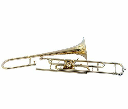 TROMBONE Bb PITCH BRASS WITH HARD CASE AND MOUTHPIECE, NICELYTUNED