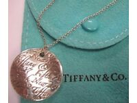 Tiffany & Co. Sterling Silver Large Notes Pendant Necklace - as new