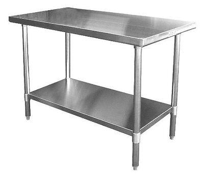 Ace 30x24 Stainless Steel Work Table W Galvanized Shelf Legs Etl Wt-ee3024