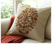 Pottery Barn Embroidered Pillow