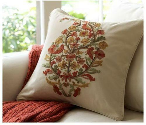 Embroidered Throw Pillows Pottery Barn : Pottery Barn Embroidered Pillow eBay