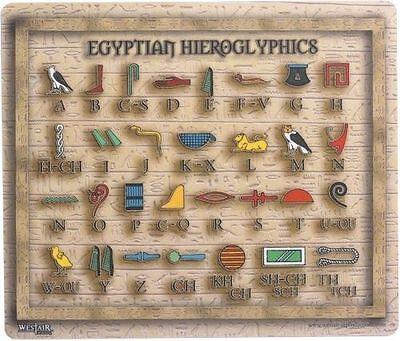 Egyptian Hieroglyphic Alphabet Mouse Mat