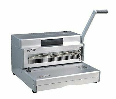 Pc360 Manual Spiral Coil Binding Machine 14 Heavy Duty Electric Inserter