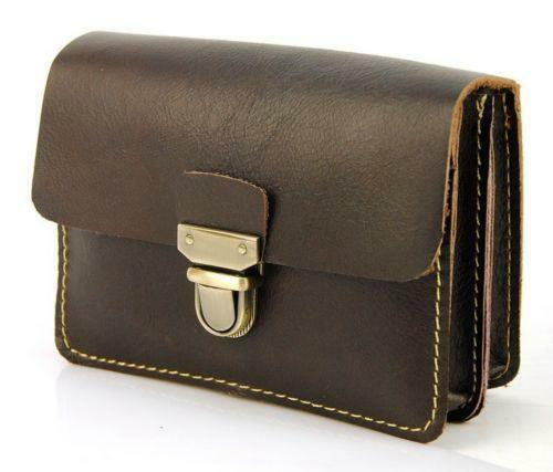 brown leather belt pouch ebay