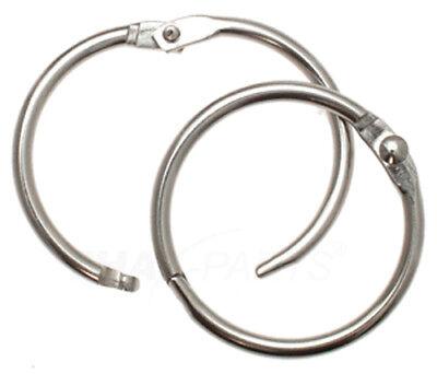100 St. Schlüsselringe Aufklappbar 14mm / 20mm  Heftringe Heftring Schlüsselring