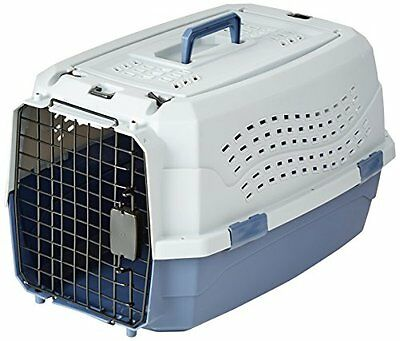 Hard Sided Pet Dog Cat Carrier 23 Inch Two Door Top Load Kennel Durable Plastic