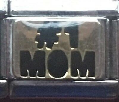 (#1 Mom  Modular Italian Charm - 9mm Size  --  Brand New)