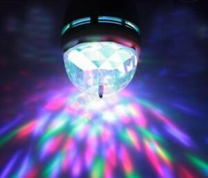 E27 3W RGB LED Stage Light Bulb Colorful Rotating for any Party