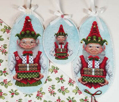Jolly Jingle Elf Christmas Ornament Blackberry Lane Cross Stitch Pattern ()