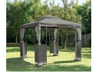 Grey Luxury Metal Framed Garden Gazebo - 2.5x2.5 - Original Gazebo Company