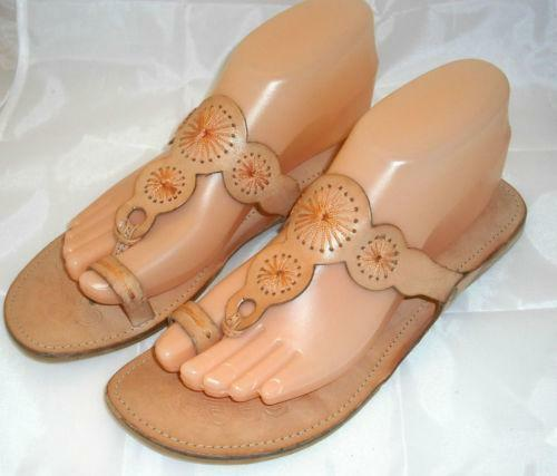 Leather Toe Ring Sandals Ebay