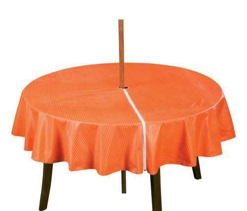 Patio Umbrella Covers With Zipper: Round Patio Tablecloth