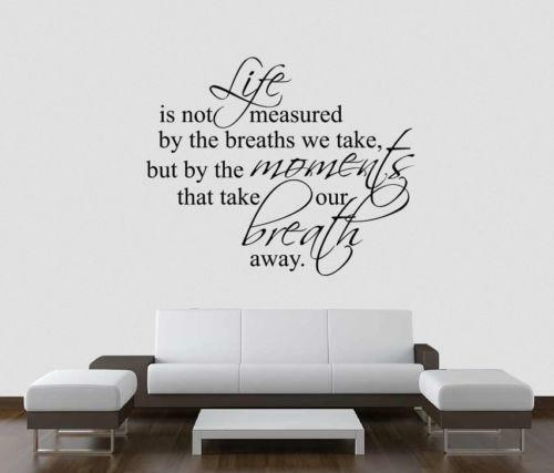 Home quote wall decals ebay for Home decor quotes on wall