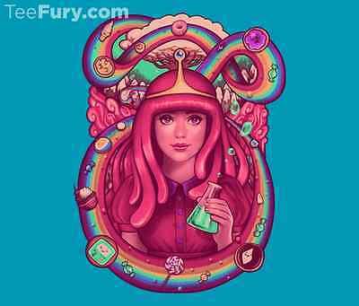 SHE'S GOT SCIENCE Adventure Time Princess Bubblegum PB Candy NEW TEEFURY T-SHIRT (Princess Bubblegum Science)