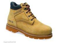 Delta Plus Redwood LH646SM Sand Nubuck Leather Safety Work Boots Steel Toe Cap