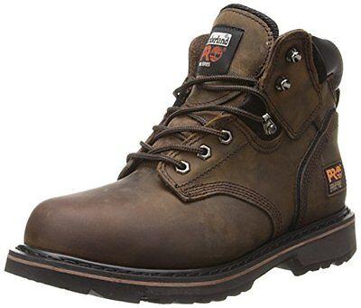 "Timberland PRO Men's Pitboss 6"" Steel-Toe Boot,Brown/Brown,11 W"