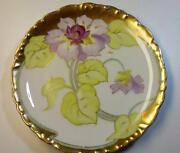 Limoges Plate Roses