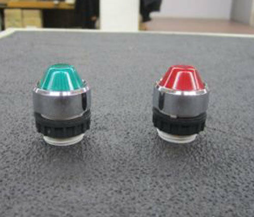 Klockner-Moeller Lamp Collar With Raised Green or Red Lens