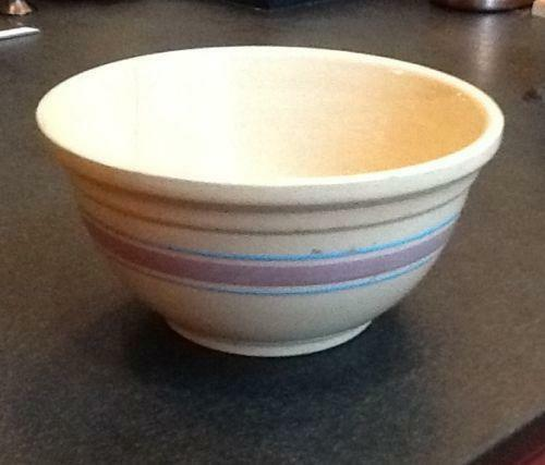 Pink Blue Stripe Bowl Ebay