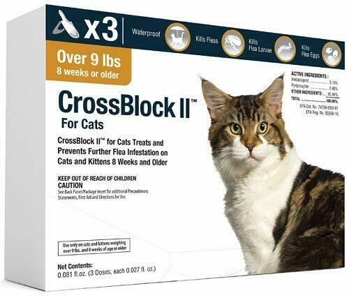 Flea Control and Prevention for Cats 3 Packs 3 Mo for Advantage II Cat Over 9lb