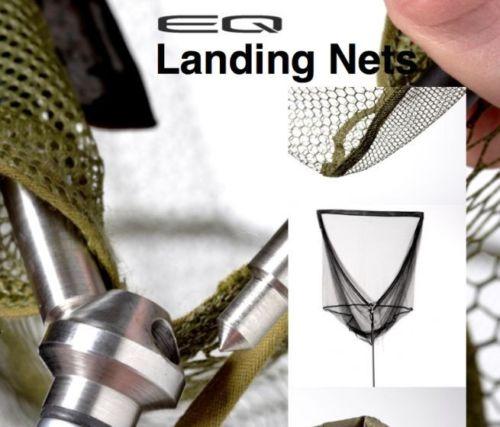 Trakker Carp Fishing NEW EQ Carbon Landing Net Black Mesh