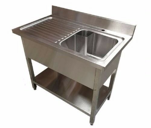 1M Stainless Steel Commercial Sink - Used - Good Condition