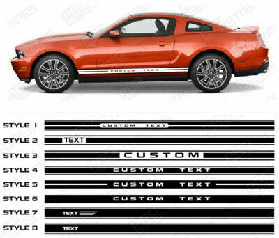 Ford Mustang Stripes (Ford Mustang Side Rocker Panel Stripes Decals 2005 2006 2007 2008 2009 Pro)
