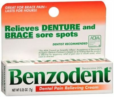 Benzodent Denture Ointment - 0.25 Oz