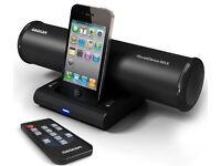 AZATOM House Dance Black Docking Station/Speakers for iPod, iPhone, iPod Touch and Nano
