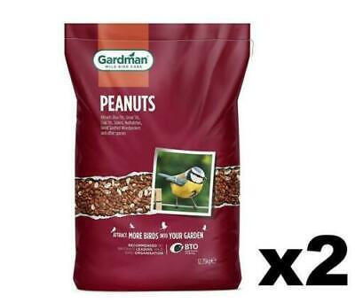 GARDMAN Whole Peanuts for Wild Birds - 25kg
