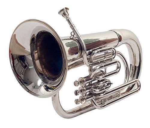 *SUPERB**Best Deal! Brand New Silver Bb Euphonium With Free Hard Case+Mouthpiece