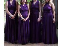 Twist and wrap bridesmaid dresses