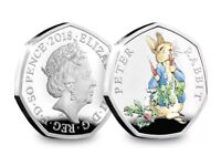 BRAND NEW 2018 PETER RABBIT 50p Limited Edition UK SILVER PROOF COIN ROYAL MINT