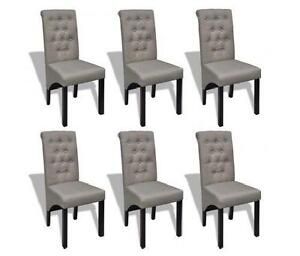 6 fabric dining chairs
