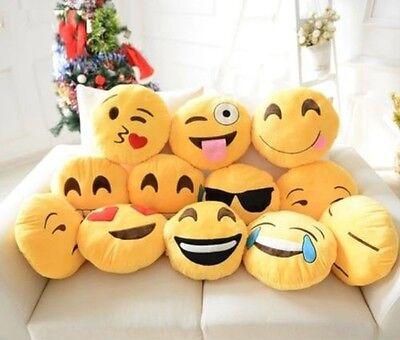 2/1.3cm Giallo Emoji Sorriso Emoticon Morbido Peluche Imbottito Cuscino Rotondo
