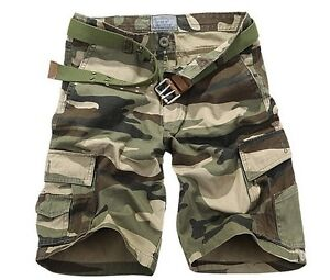 2013 NEW MENS CASUAL MILITARY ARMY CARGO CAMO COMBAT WORK SHORTS PANTS TROUSERS