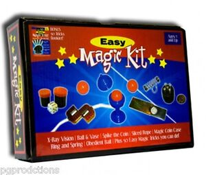 EASY-MAGIC-KIT-Set-50-Tricks-Book-Kids-Beginner-Magician-Gift-Toy-Ball-Vase-Rope